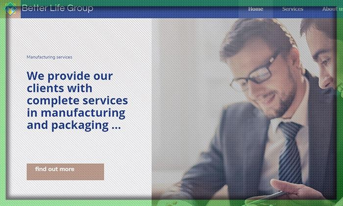 طراحی سایت شرکتی ( Better Life Group )