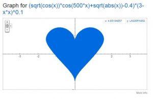 رازهای مخفی گوگل : ساخت شکل قلب