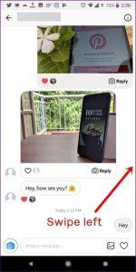 مشاهده زمان ارسال پیام